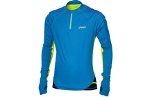 Asics Fuji  tshirt sport Homme LS, 1/2 Zip bleu